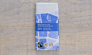 Organic Milk & Sea Salt Chocolate Bar- Code#: DE0391