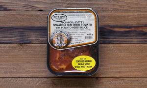 Whole Wheat Spinach Agnolotti With Tomato Sauce- Code#: DN090