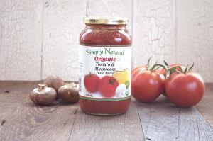 Organic Tomato & Mushroom Pasta Sauce- Code#: DN233