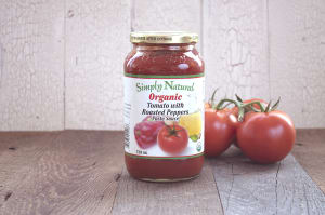 Organic Tomato w/roasted peppers Pasta Sauce- Code#: DN239