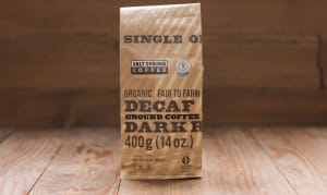 Organic Peru DECAF Dark Coffee, GROUND- Code#: DR139
