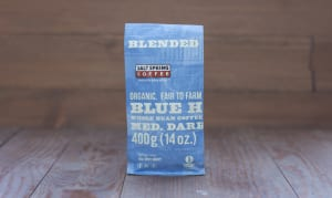 Organic Blue Heron Medium-Dark Coffee, WHOLE BEAN- Code#: DR158