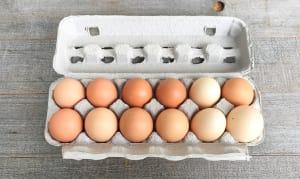 Organic Farm Fresh Free Range Eggs - Ungraded / Mixed Sizes- Code#: EG0140