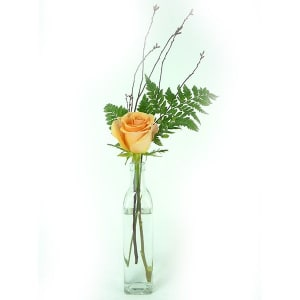 Asstorted Rose Arrangement in Glass Bottle- Code#: FF1241