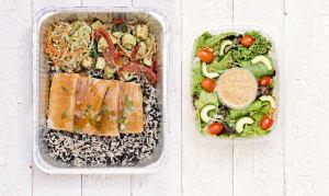 Teriyaki Salmon with Whole Grain Rice Medley and Roasted Vegetables- Code#: LLK0003
