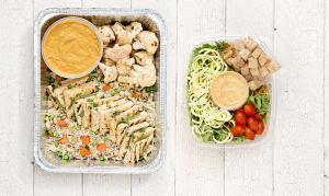 Thai Tofu Coconut Curry & Salad (Vegetarian)- Code#: LLK103