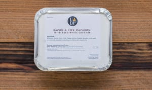 Bacon & Leek Macaroni & Cheese with Aged White Cheddar & Gruyere (Frozen)- Code#: PM1506