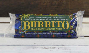 Organic Black Bean & Vegetable Burrito (Frozen)- Code#: PM3214