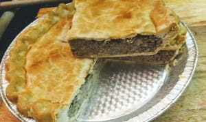Organic Tourtiere Meat Pie - large whole (Frozen)- Code#: PM8049