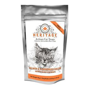 Heritage Artisan Cat Treats - Salmon & Blueberries Recipe- Code#: PT520