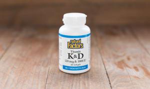 Vitamin K & D 120 mcg & 1000 IU- Code#: VT1096