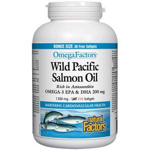 OmegaFactors® Wild Pacific Salmon Oil 1300mg BONUS- Code#: VT1109