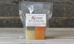 Apple, Carrot, Sweet Potato, Zucchini Puree pack. (Frozen)- Code#: BB410007