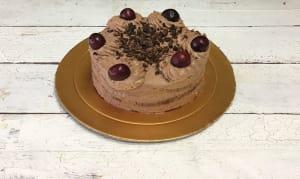 Dark Cherry Forest Cake- Code#: DE3187