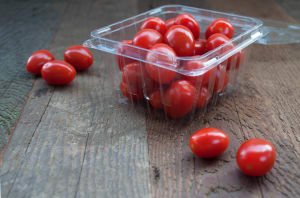 Tomatoes, Red Grape, 1pt (~280g) Clamshell - Code#: PR192873NCO