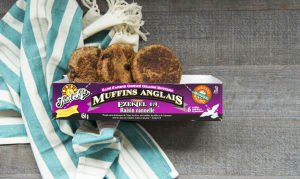 Organic Sprouted Cinnamon Raisin English Muffins (Frozen)- Code#: BR103