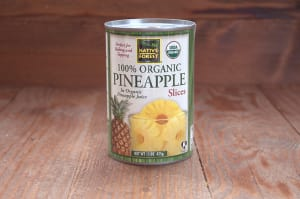 Organic Organic Pineapple Slices- Code#: BU465