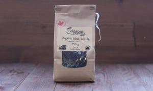 Organic Western Canadian Whole Black Beluga Lentils- Code#: BU578