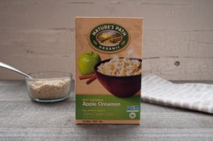 Organic Instant Oatmeal Apple Cinnamon- Code#: CE3210