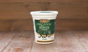 Organic Plain Yogurt 3.5%- Code#: DA372
