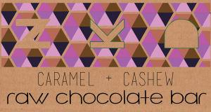 Carmel and Cashew Raw Cacao Bar (Frozen)- Code#: DE8021