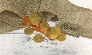 Milk Chocolate Gelt Coins - Classic Gold- Code#: DE928