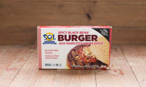 Black Bean Burger (Frozen)- Code#: DN539