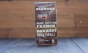 Organic French Roast Very Dark Coffee, GROUND- Code#: DR115