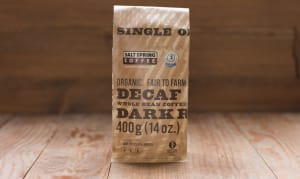 Organic Peru DECAF Dark Coffee, WHOLE BEAN- Code#: DR138