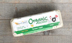 Organic Certified Free Range Brown Eggs- Code#: EG0130