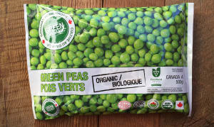 Organic Peas (Frozen)- Code#: FZ8009