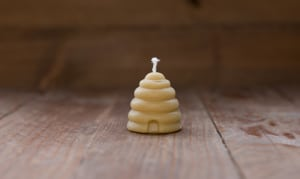 Beeswax Skep Candle - Small- Code#: HH752