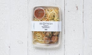 Turkey Meatballs with Fresh Herb Tomato Sauce, GF Pasta and Zucchini Noodles- Code#: LL101
