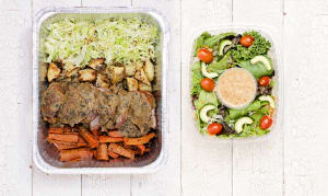 Pork with Mushroom Gravy, Braised Cabbage & Roasted Root Vegetables- Code#: LLK0002