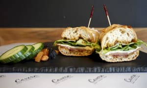 Proscuitto di Parma + Fig Jam + Cavern Selected Cheese + Greens Baguette- Code#: PM8019