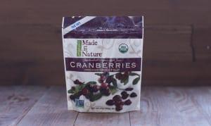 Organic Dried Cranberries - Apple Juice Sweetened- Code#: SN065