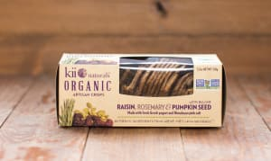 Organic Raisin, Rosemary & Pumpkin Crisps- Code#: SN8301