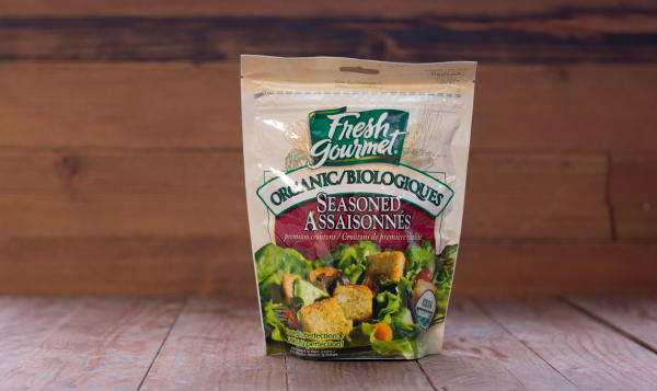 Organic Seasoned Croutons 128g