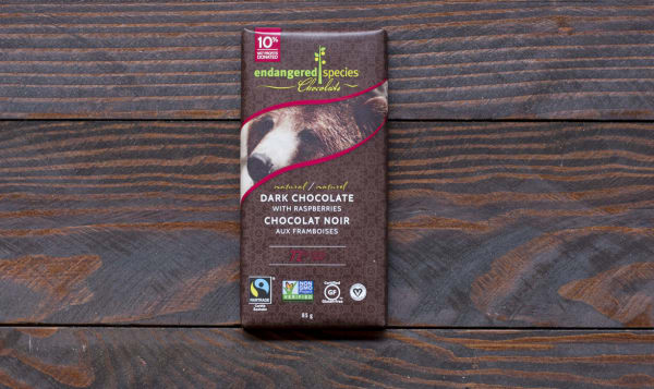 Grizzly Bar - Dark Chocolate with Raspberries