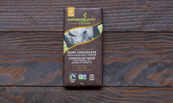 Rhino Bar - Dark Chocolate with Hazelnut Toffee
