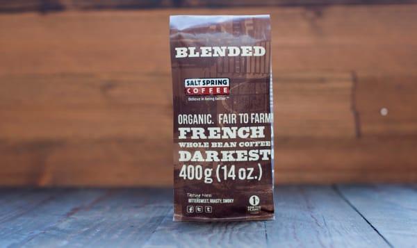 Organic French Roast Dark Coffee, Whole Bean