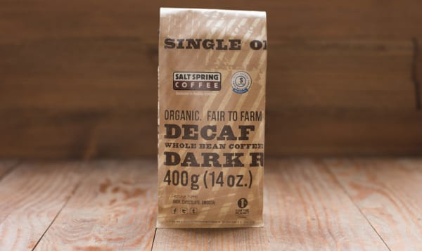 Organic Decaf Dark Coffee, Whole Bean