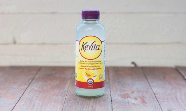 Sparkling Probiotic Drink, Lemon Cayenne