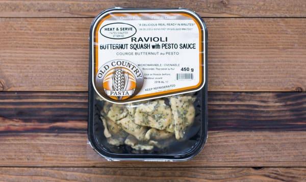 Butternut Squash Ravioli with Pesto - Heat & Serve