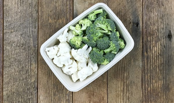 Organic Cauliflower and Broccoli Florets