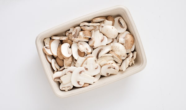 Local Organic Mushrooms, Sliced