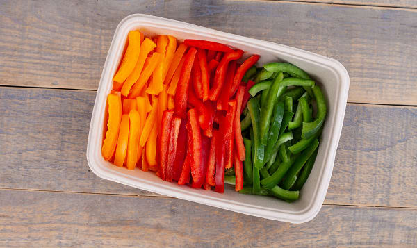 Local Peppers, Rainbow Blend, Sliced