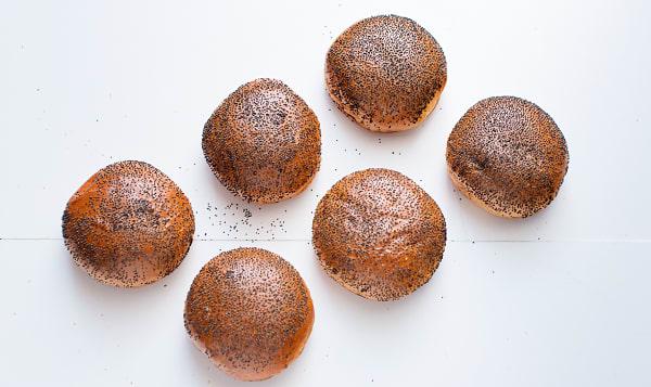 Brioche Hamburger Poppy Seed Buns