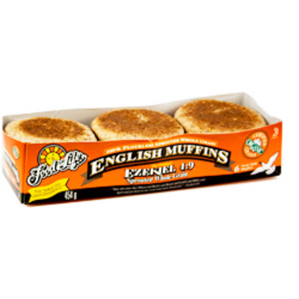 Organic Sprouted Whole Grain English Muffins (Frozen)