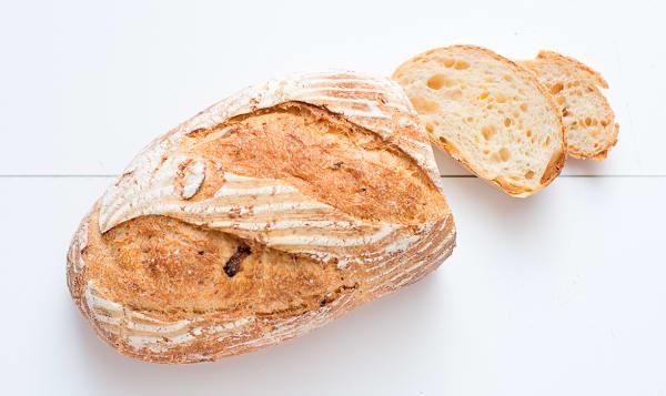 Cheese & Garlic Sourdough Unsliced - Yeast, Sugar & Fat Free